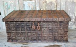 Antique Dowry Chest Coffee Table, Gujarat <b>SOLD<b>